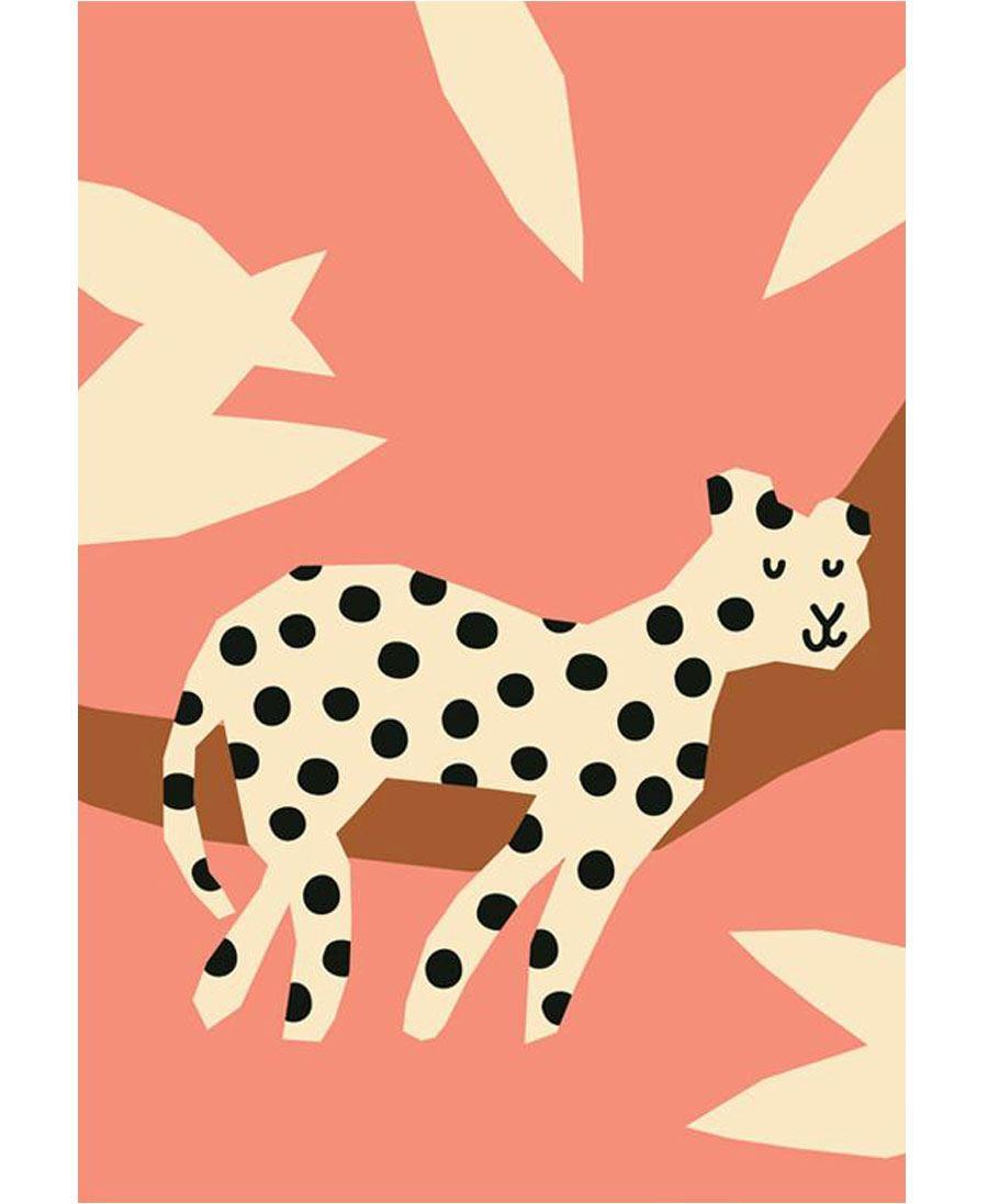 Leopard Postkarte