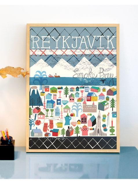 Reykjavik Poster (50x70cm)