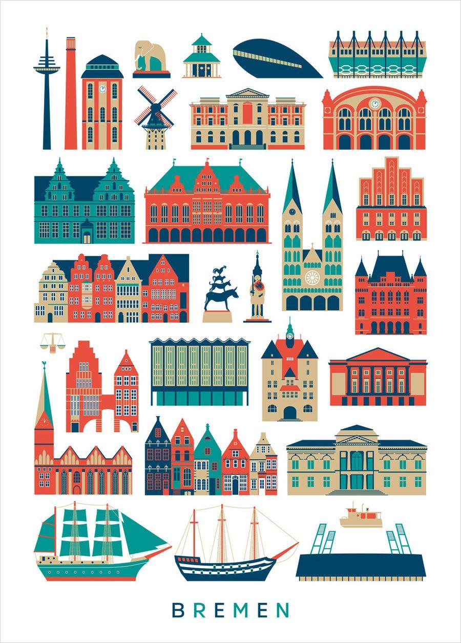 Stadt Bremen Poster (50 x 70 cm)