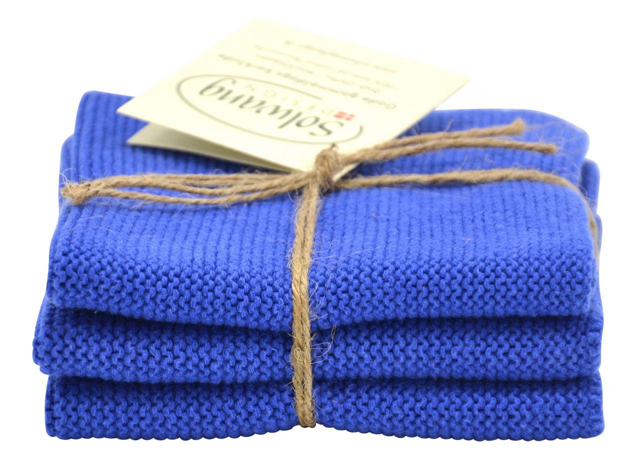 Solwang Wischtuch Kobaltblau (Bio-Baumwolle)