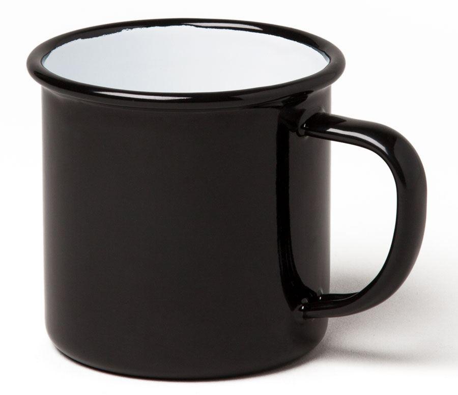 Emaille Tasse Schwarz