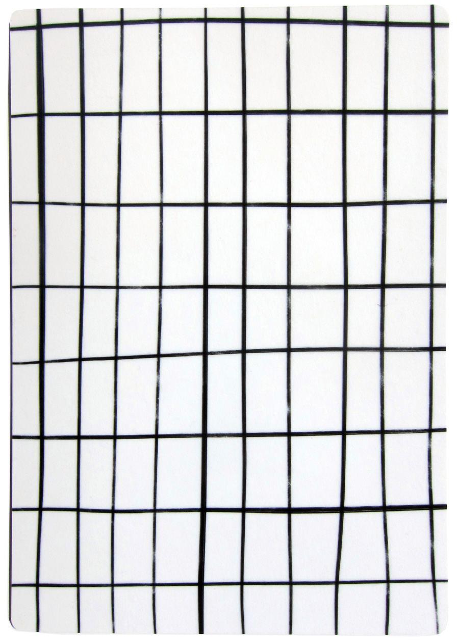 Schneidebrett White Grid