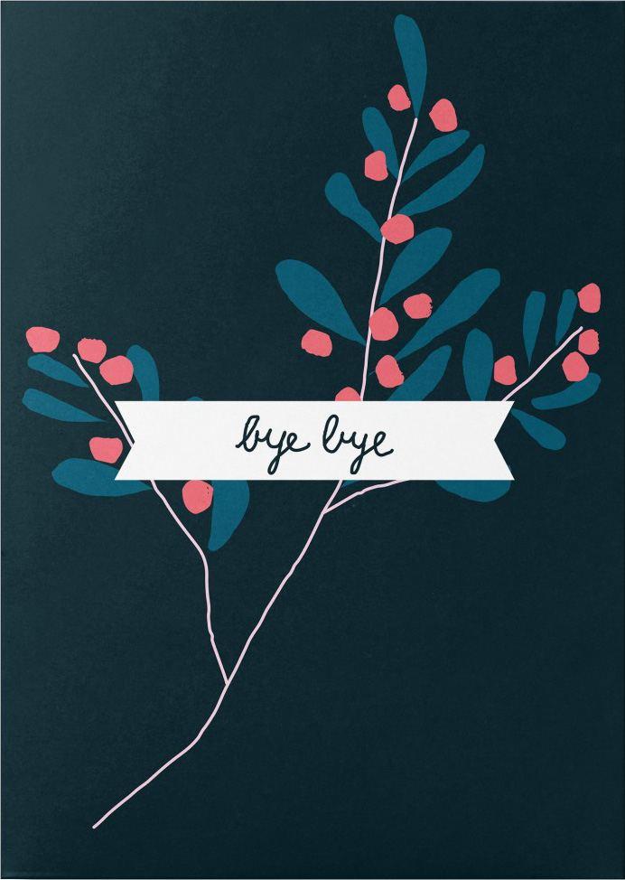 Bye Bye Postkarte