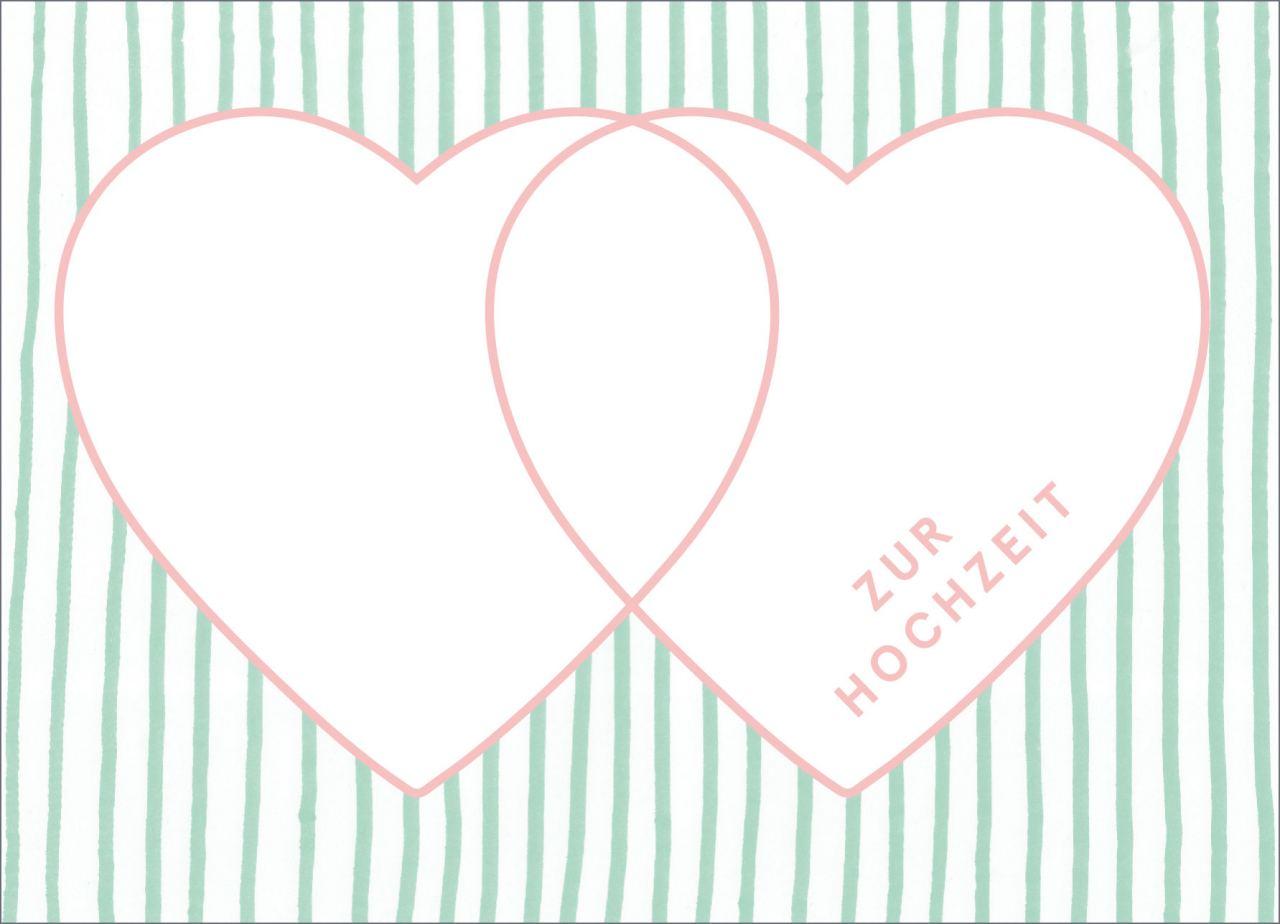 Zur Hochzeit Postkarte