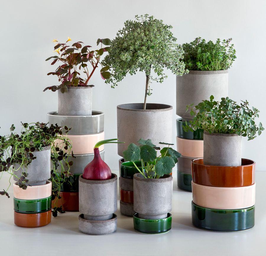 Hoff Pot Set Grey Emerald Green (2 Größen)