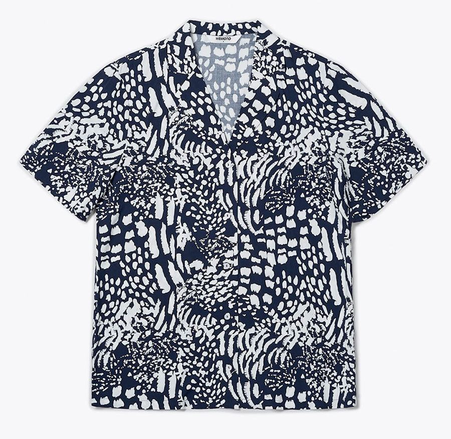 Scotts Printed Bluse Navy Blue Off White