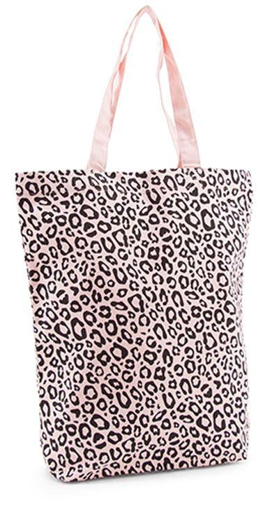 Shopper Baumwolle Leopard Soft Pink