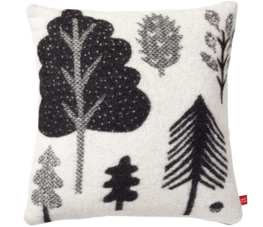 Kissen Forest Black White