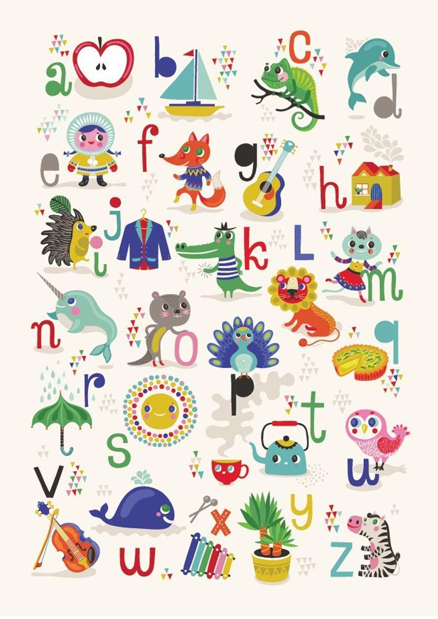 ABC Apfel - Zebra Poster (50x70cm)