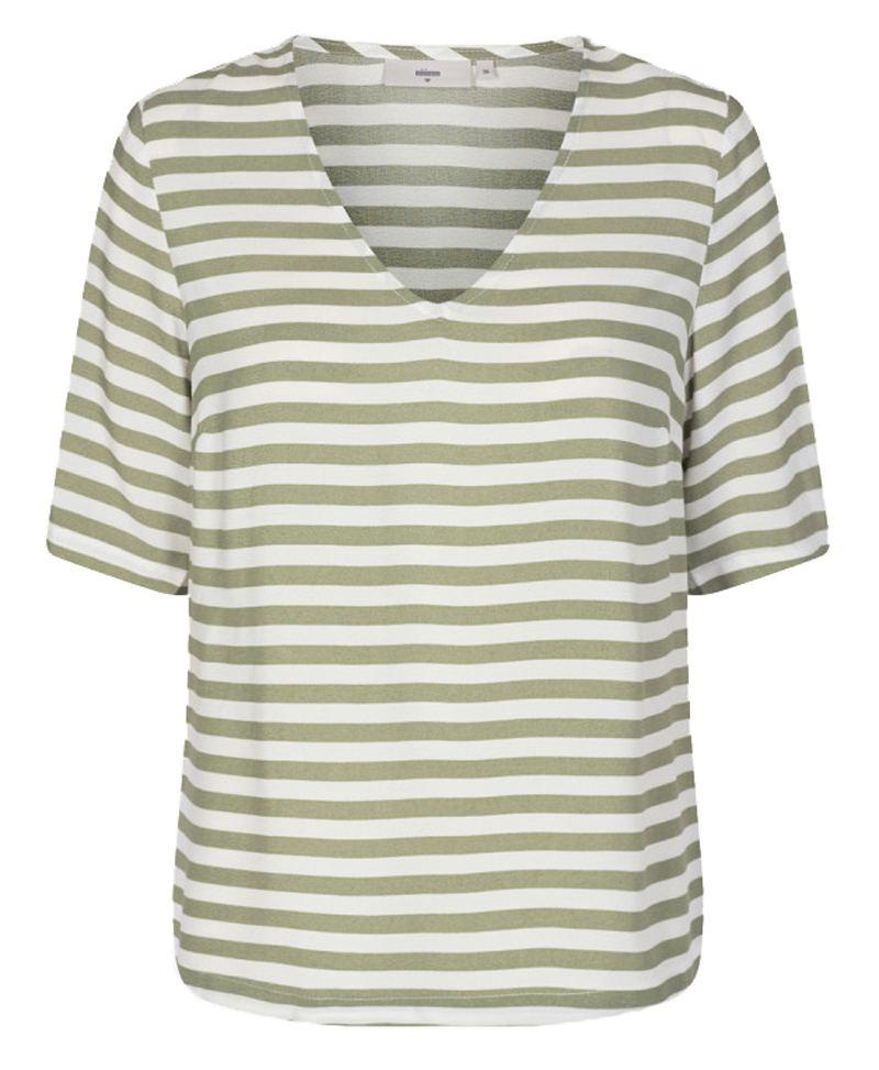 Elvire V-Ausschnitt Shirt Oil Green