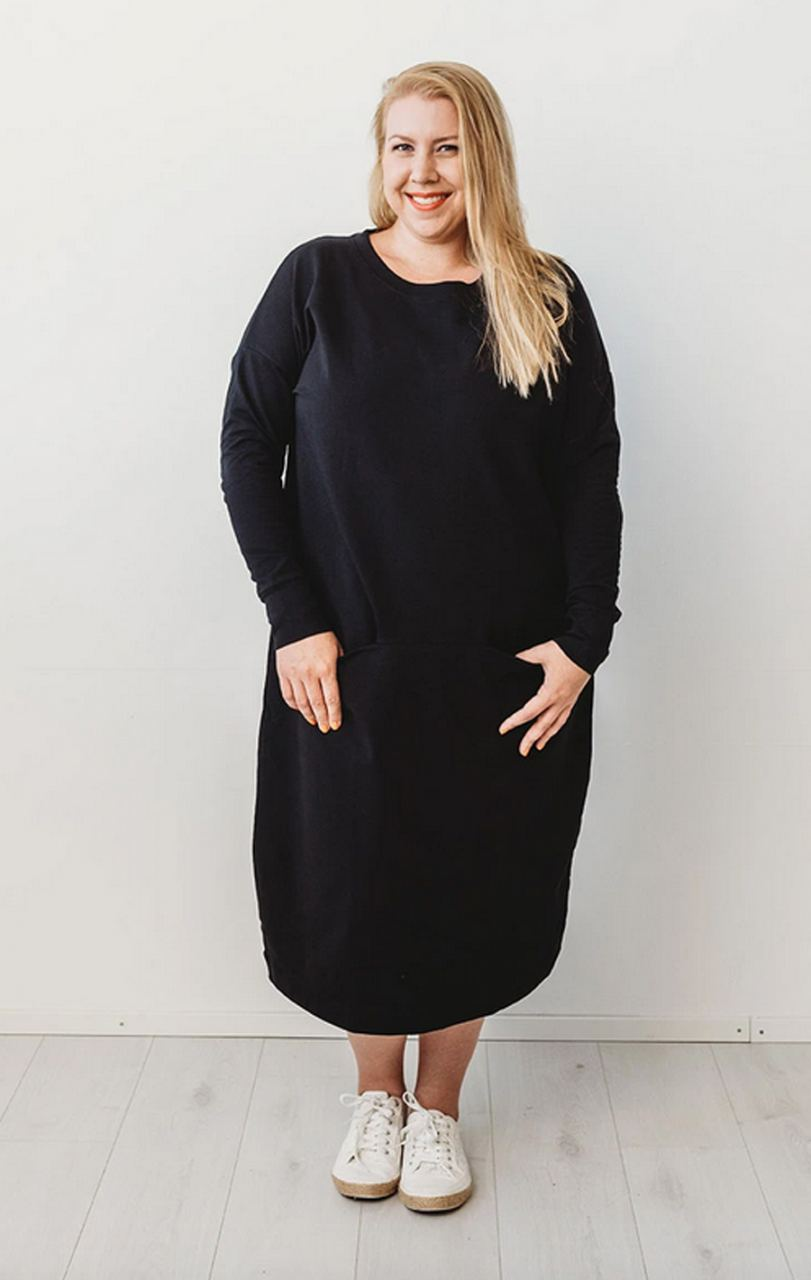 Giant Split Kleid Black