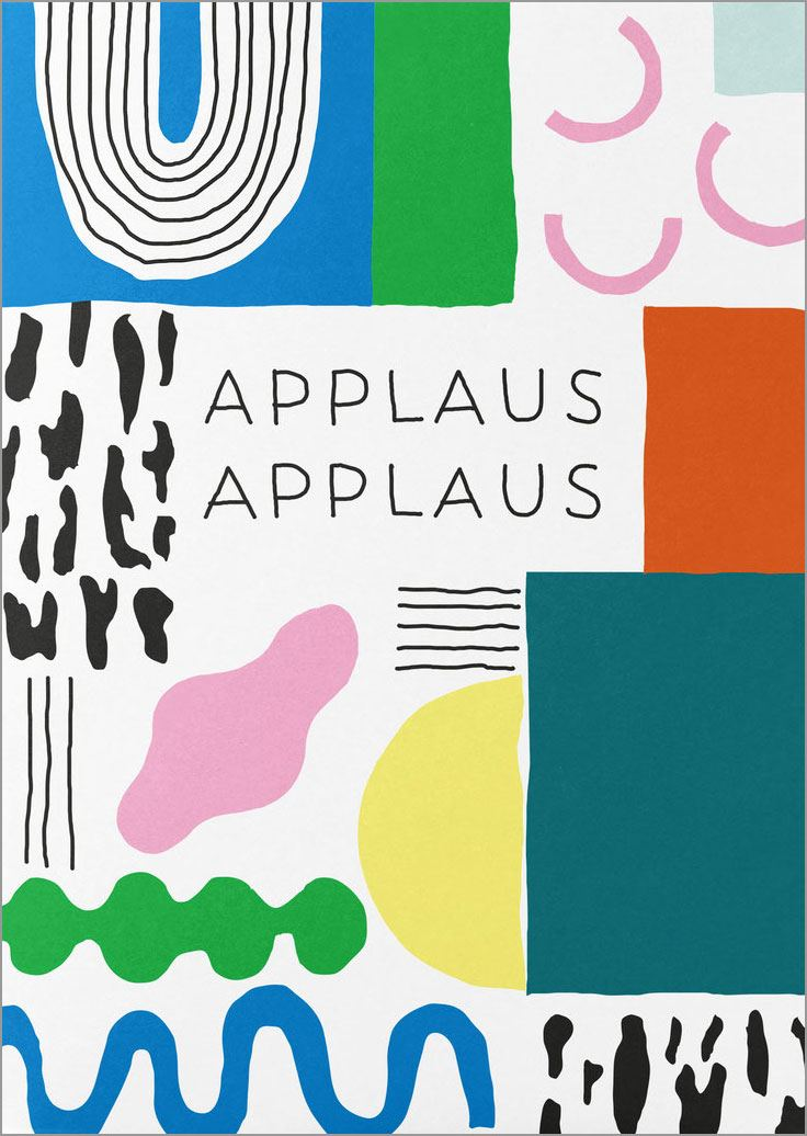 Applaus Applaus Postkarte