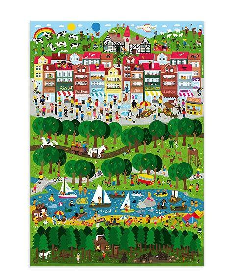Stadt Land Fluss Poster (50 x 70 cm)