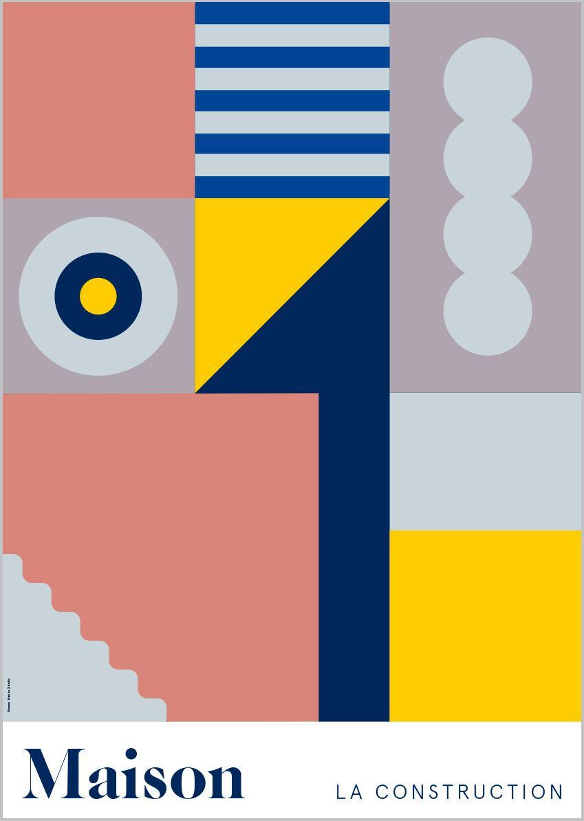 Maison Gelb Poster