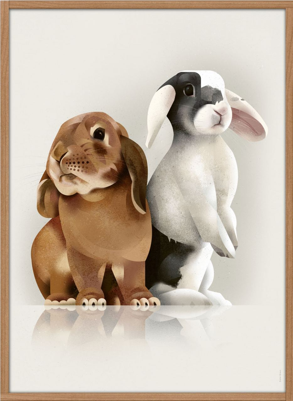 Bunny Love Poster (50x70cm)