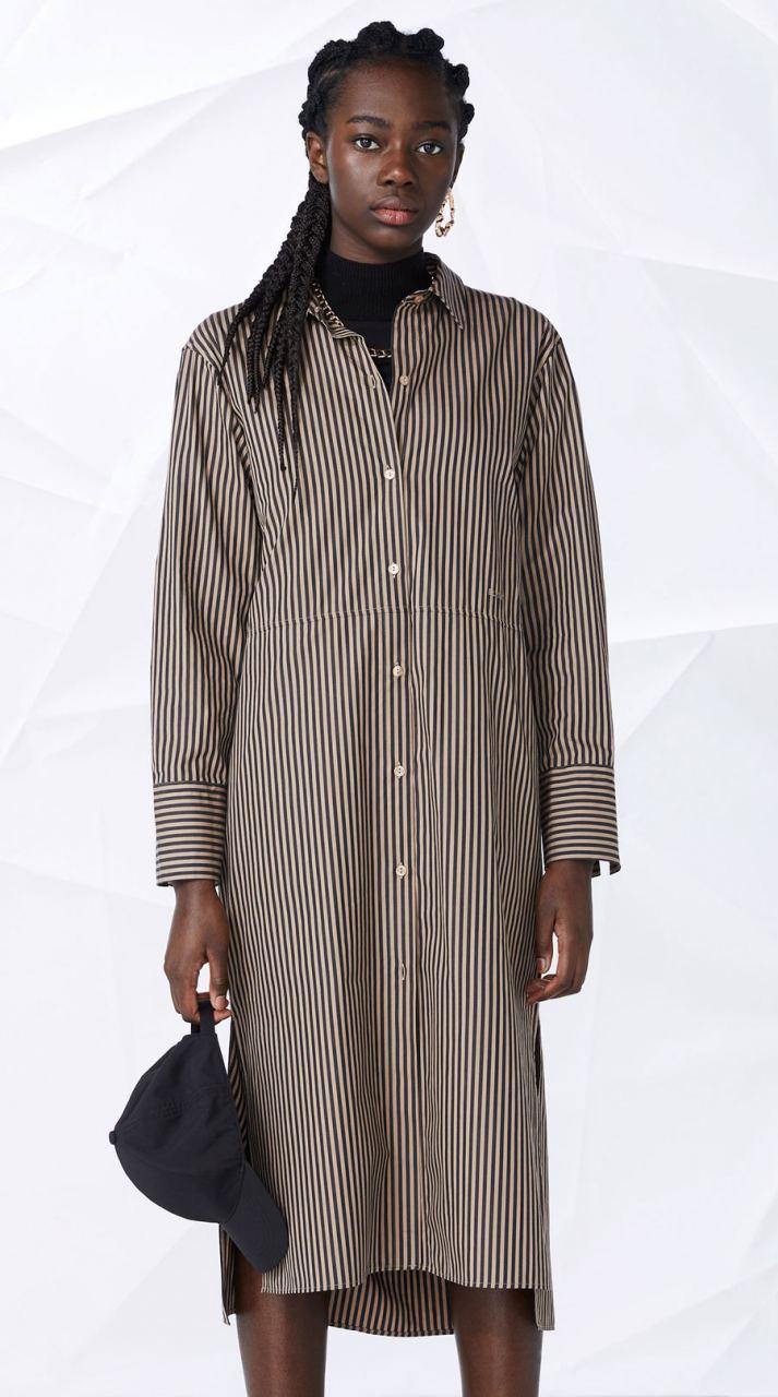 Laleh Blusenkleid Black Stripe