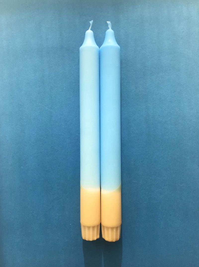 Kerze Vitamin Sea Hellblau-Beige