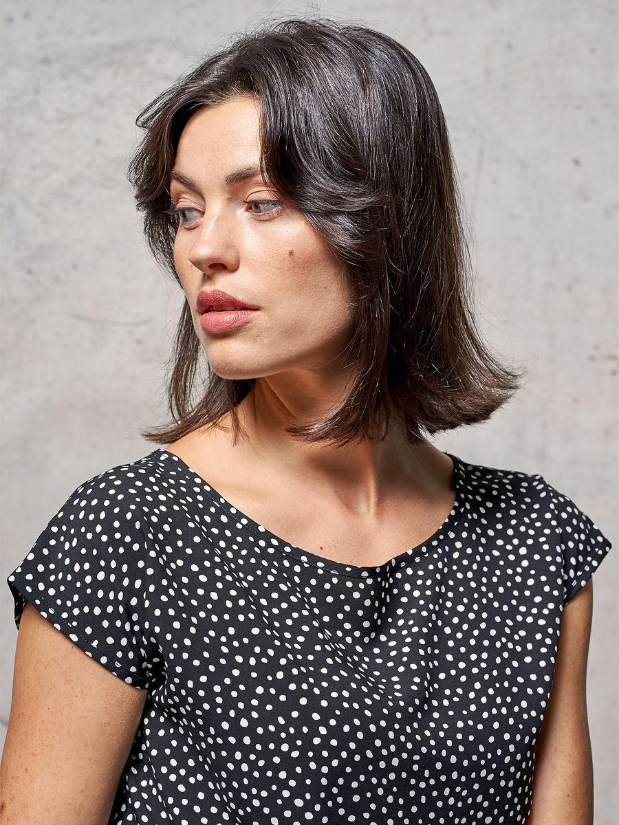 Melvin Shirt Black/White Dots
