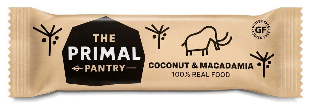 The Primal Pantry - Raw Paleo Bar - Kokos & Macadamia Riegel