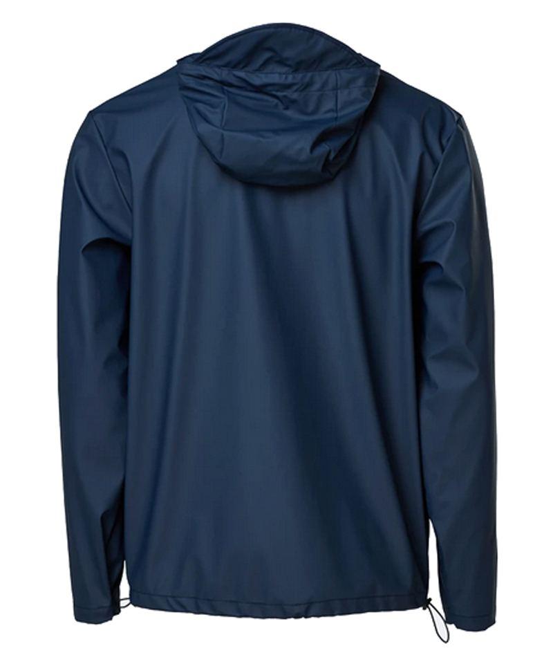 Rains Short Hooded Coat Blue