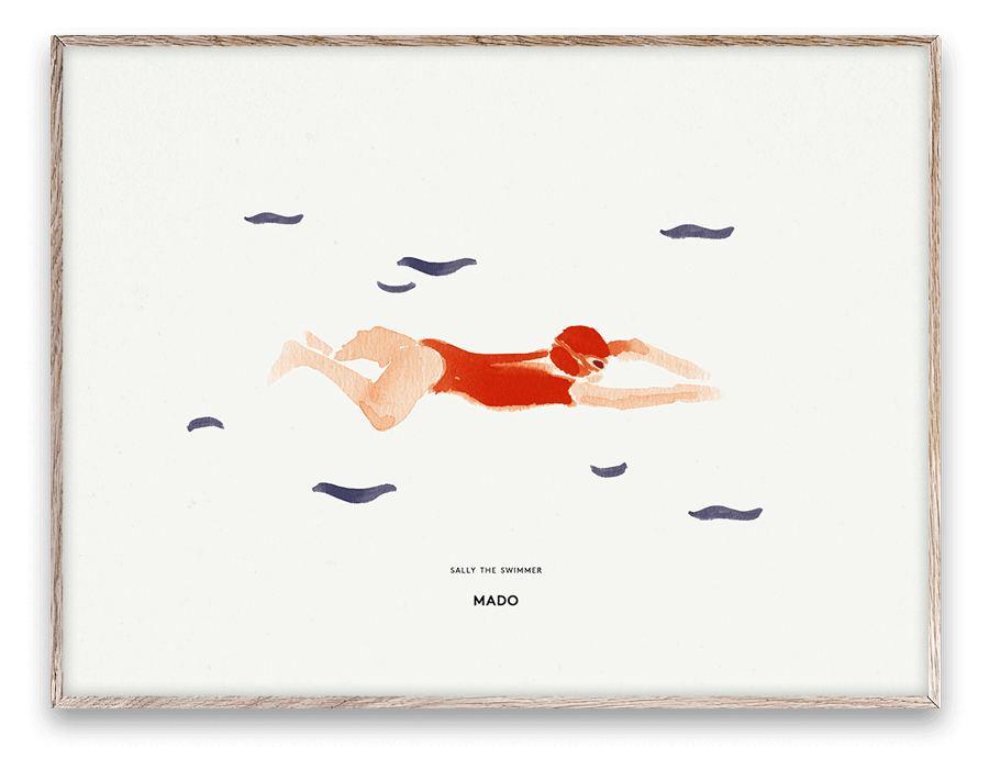 Sally the Swimmer Print (30x40cm)