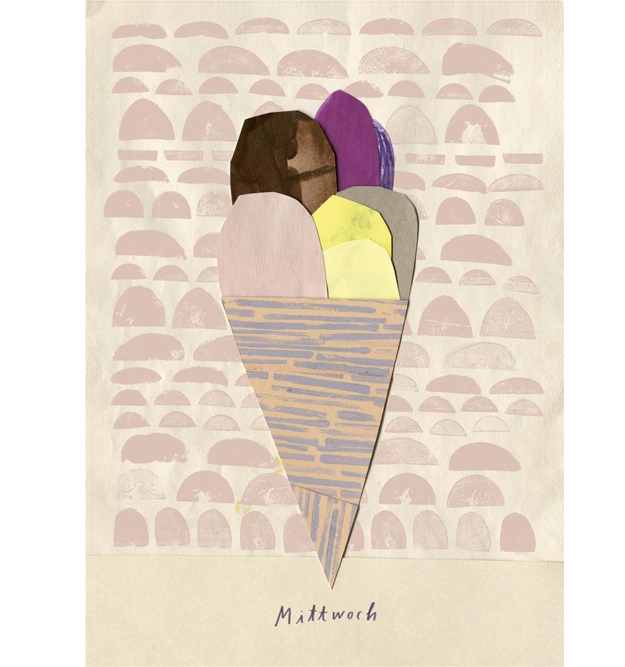 Mittwoch Eis Postkarte