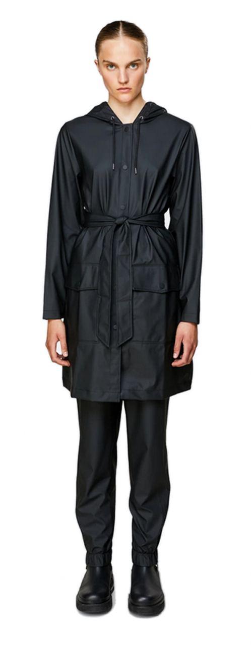 Rains Belt Jacket Black
