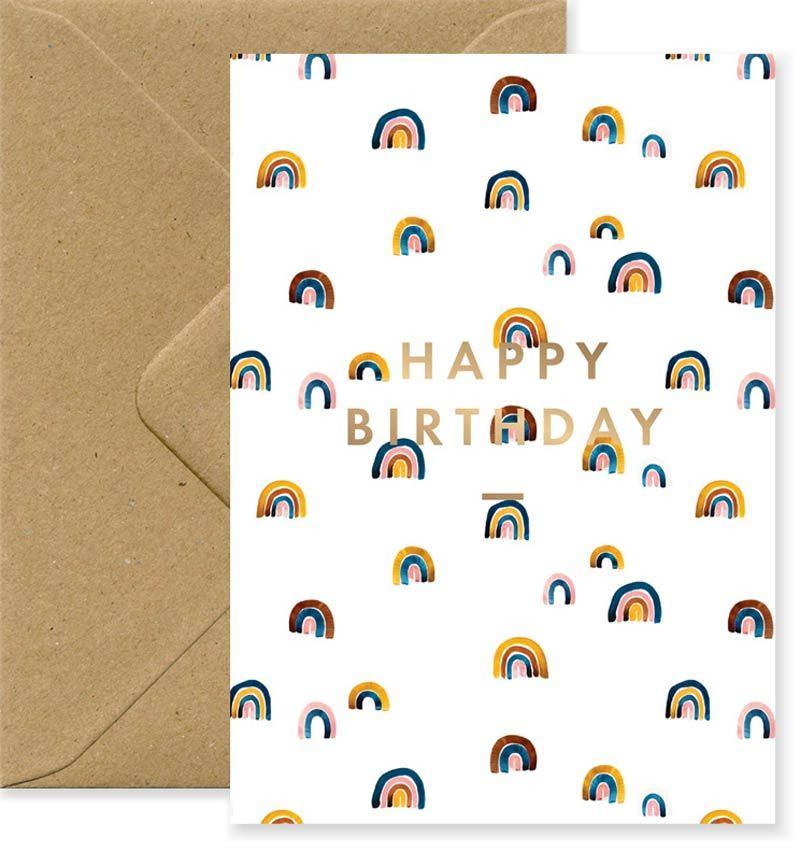 Happy Birthday Rainbows Karte