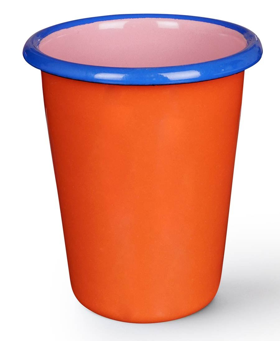Colorama Tumbler Coral and Soft Pink w/ Electric Blue Rim
