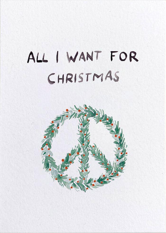 All I Want For Christmas Postkarte