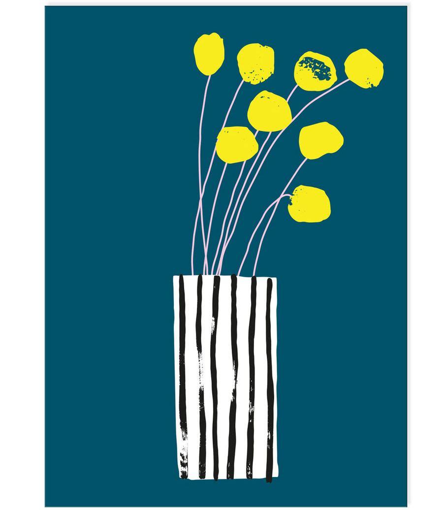 Blumengrüße Postkarte
