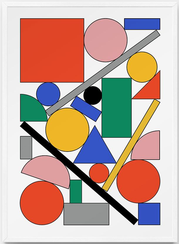 Shapes Poster (50x70cm)