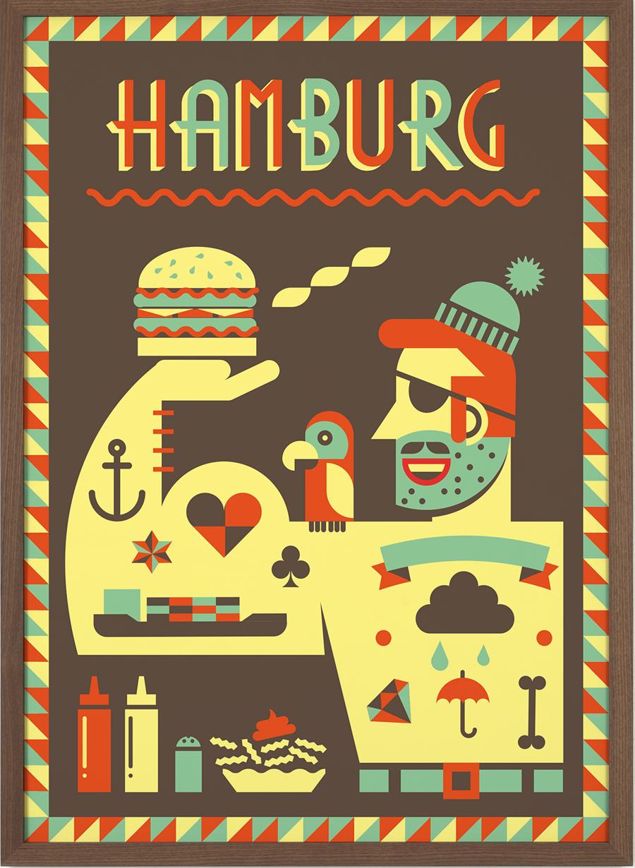 Hamburg Poster #2 (50 x 70 cm)