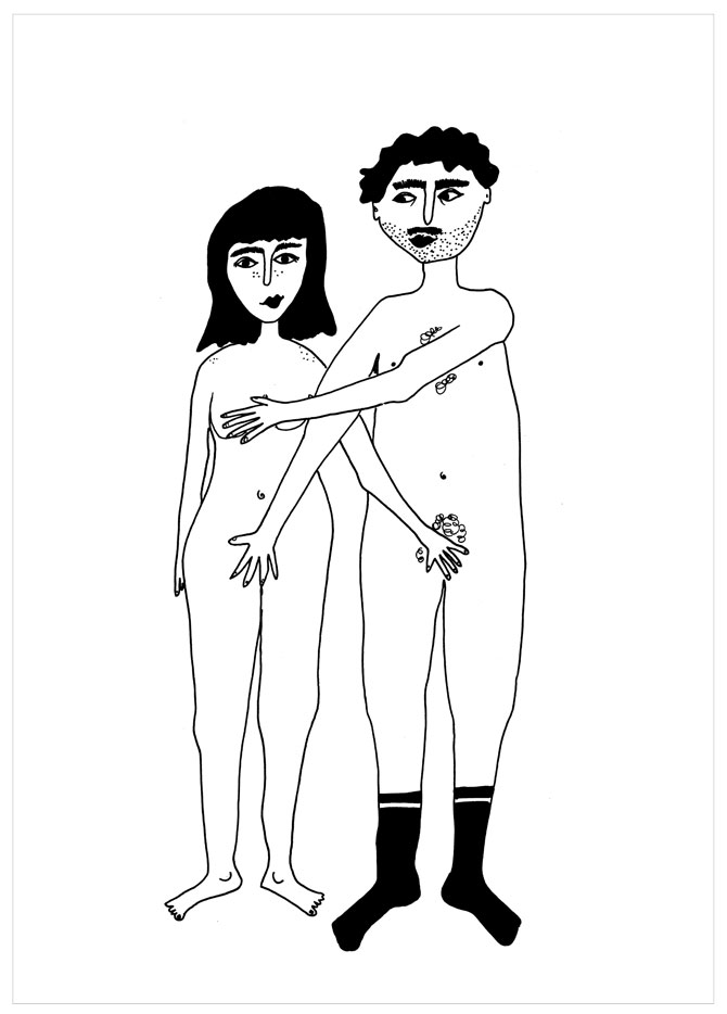 Naked Couple Poster (Din A3)