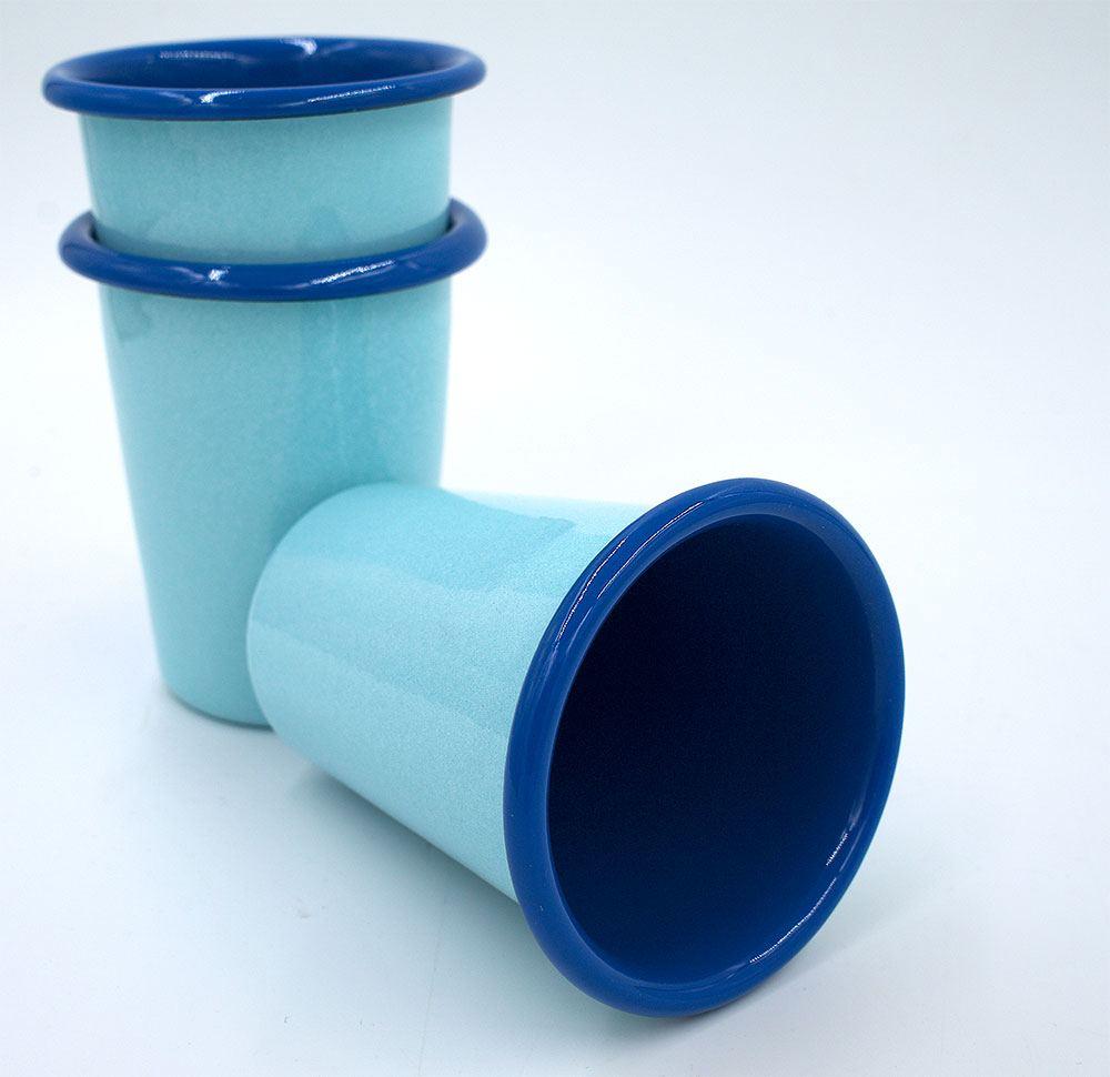 Tumbler Emaille Hellblau Blau