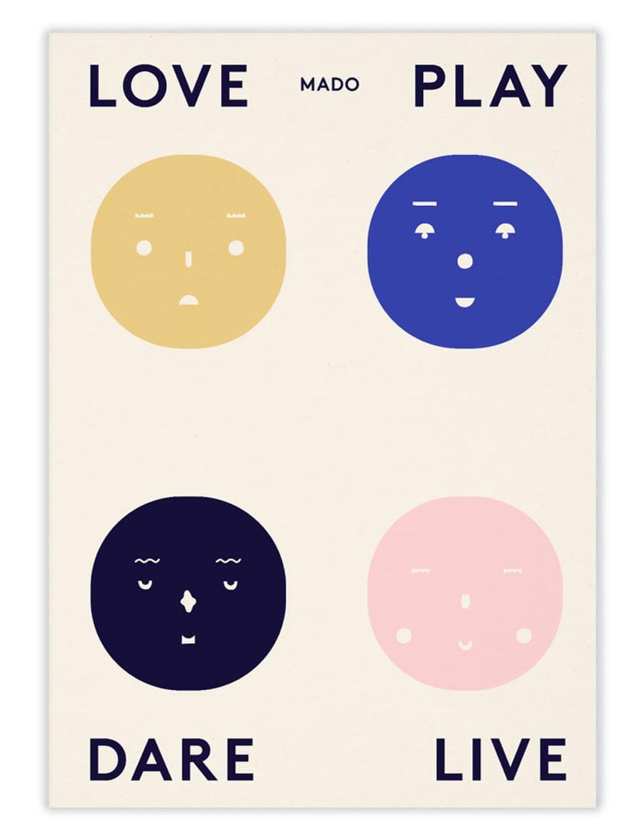 Four Feelings Poster (50x70cm)