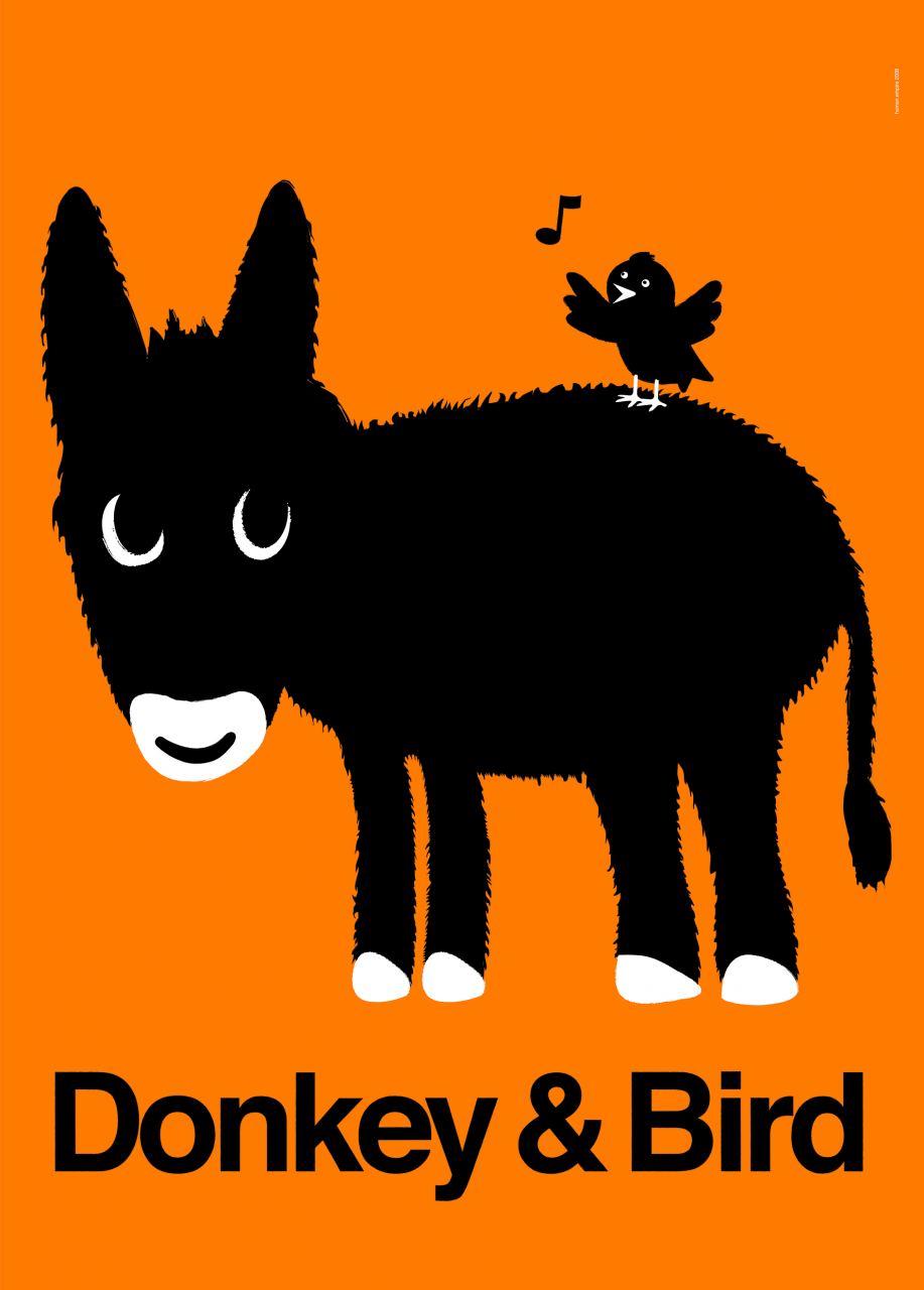 Donkey & Bird Print (Din A3)