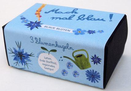 Mach mal blau Blumenkugeln