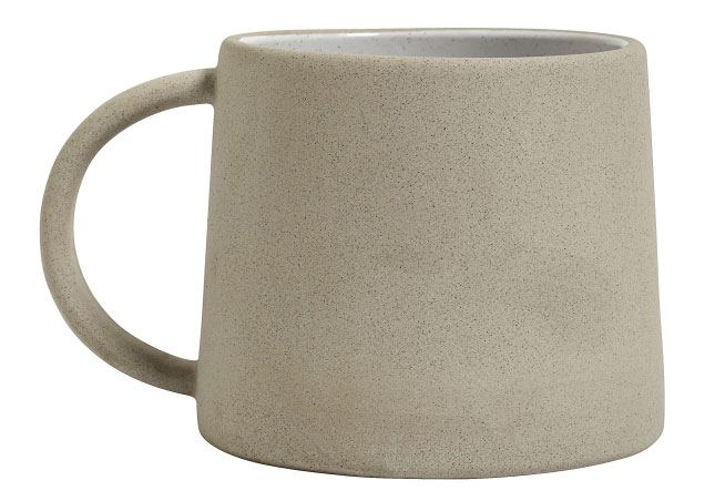 Tasse Steingut Beige Weiß