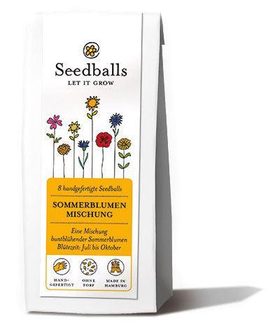 Sommerblumen-Mischung Seedballs (8 Stk.)