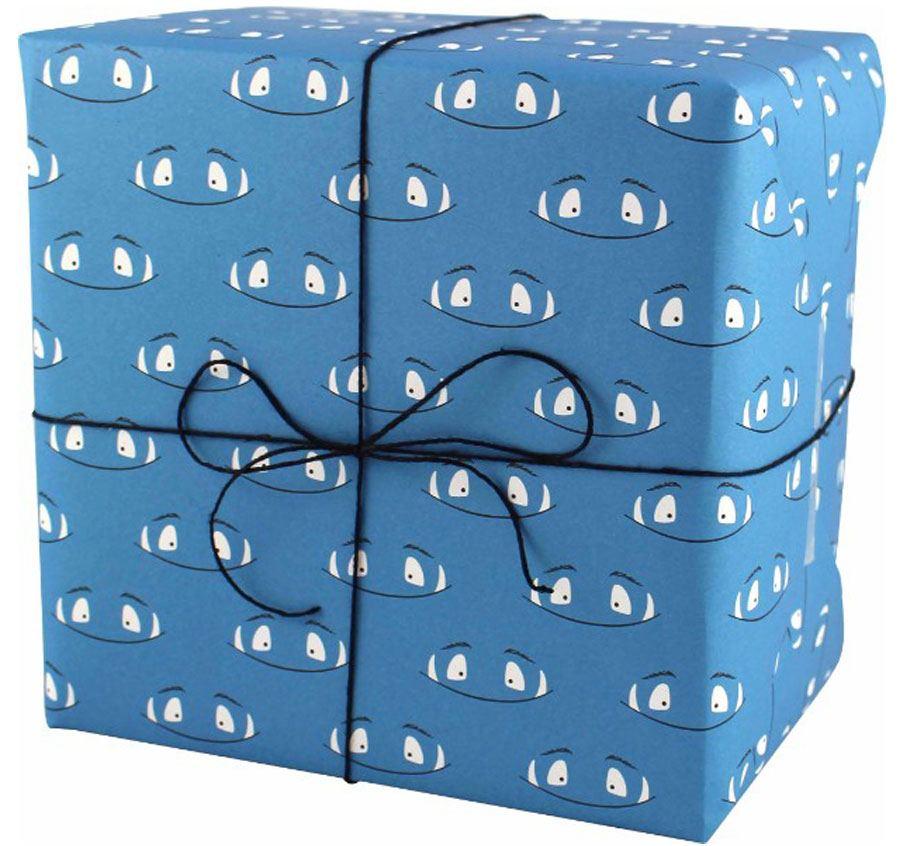 Monster Blau Geschenkpapier