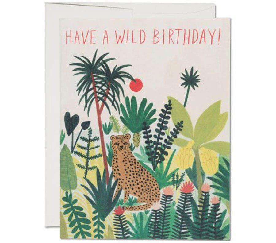 Cheetah Birthday Klappkarte
