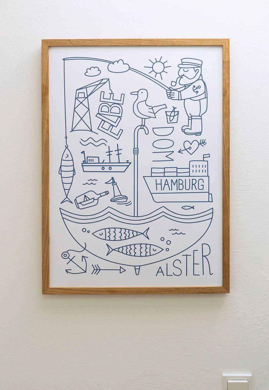 Hamburg Elbe Alster Poster