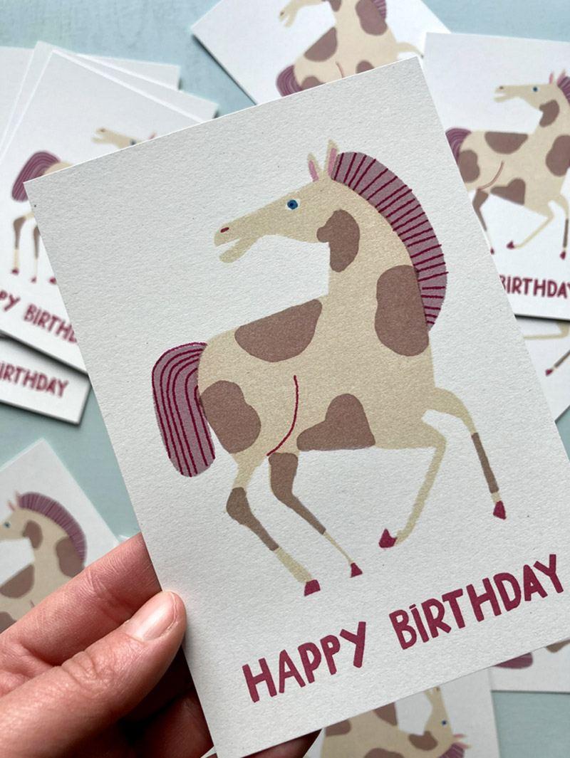 Birthday Horse Postkarte