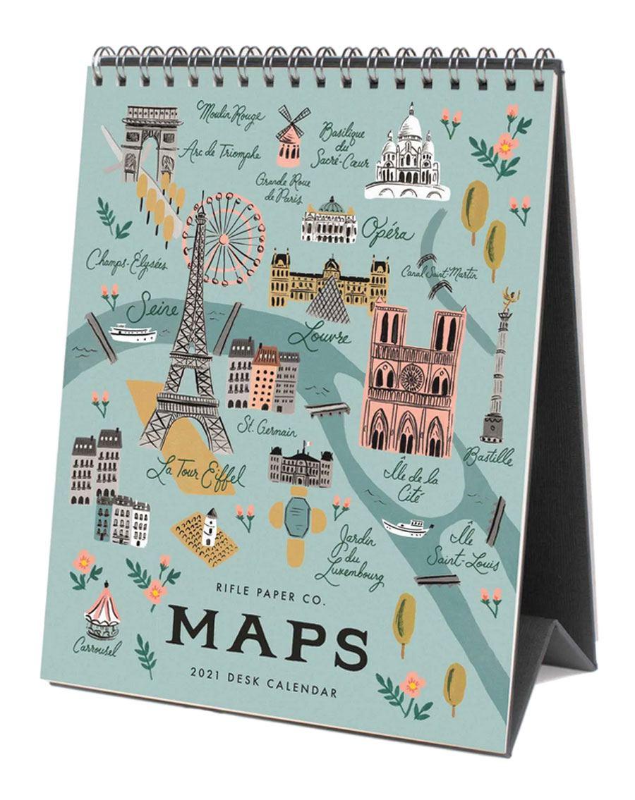 2021 Tischkalender City Maps