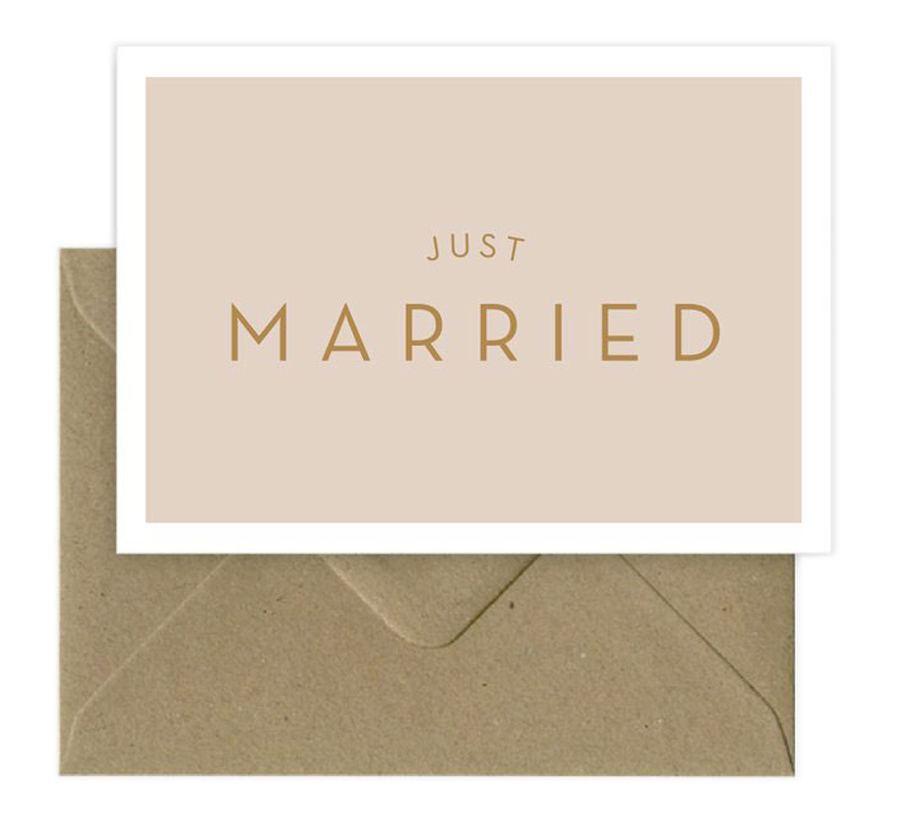 Just Married Klappkarte