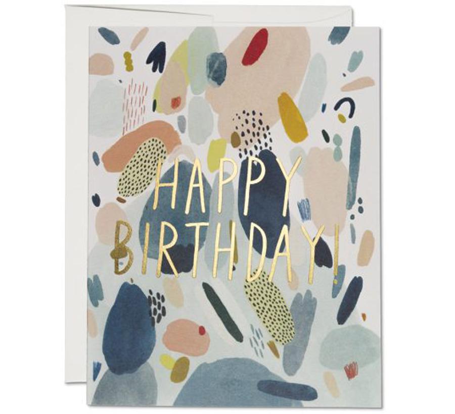 Abstract Birthday Klappkarte
