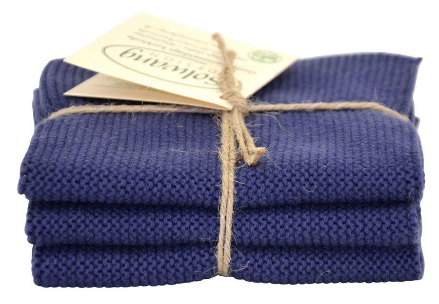 Solwang Wischtuch Dunkles Dusty Blue (Bio-Baumwolle)