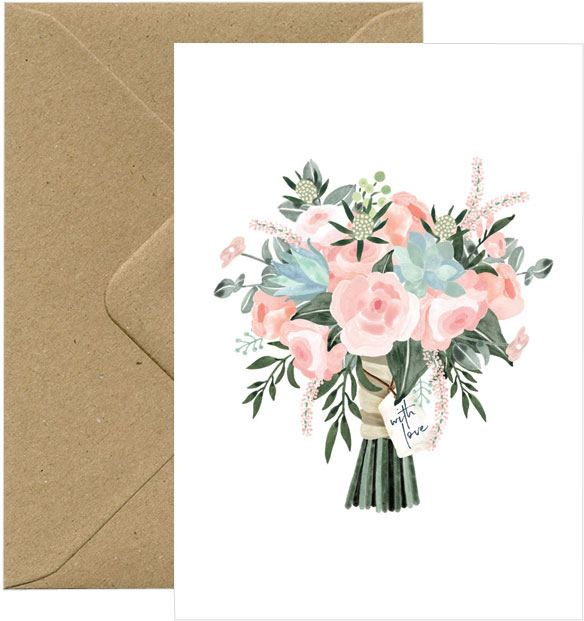 Bouquet - With Love Karte