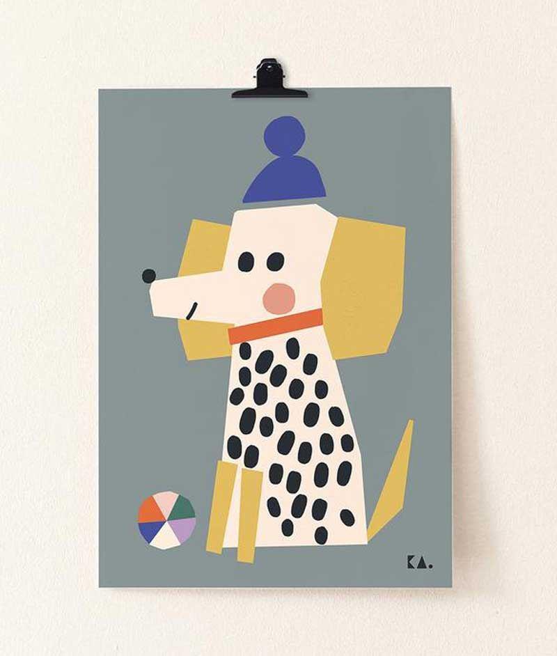 Dog Grey Poster (50 x 70cm)